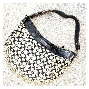 💕 Coach Extra large gray black hobo bag xl 💕